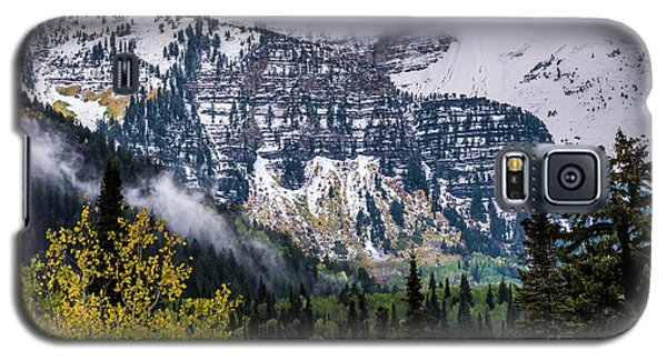 Galaxy S5 Case featuring the photograph Fall Storm In Wasatch Mountains - Utah by Gary Whitton