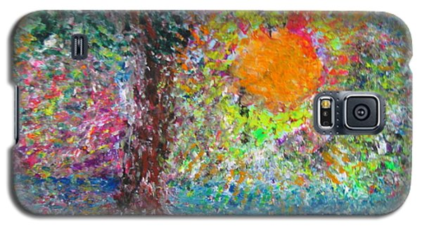 Galaxy S5 Case featuring the painting Fall Sun by Jacqueline Athmann