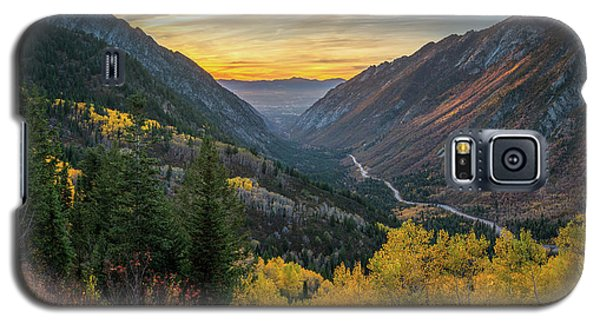 Fall Sunset In Little Cottonwood Canyon Galaxy S5 Case