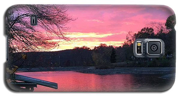 Fall Sunset On The Lake Galaxy S5 Case