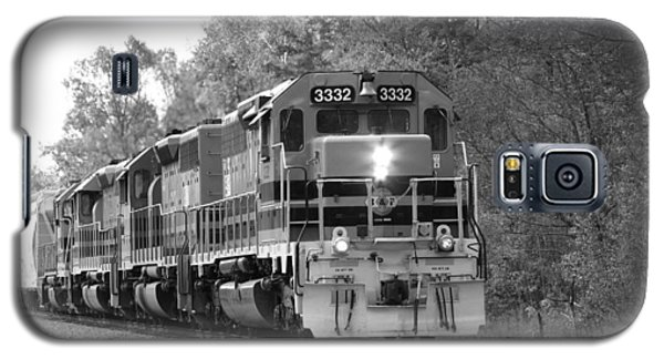 Fall Train In Black And White Galaxy S5 Case