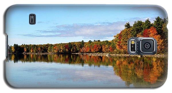 Fall Tree Reflections Lake Sabago Maine Galaxy S5 Case
