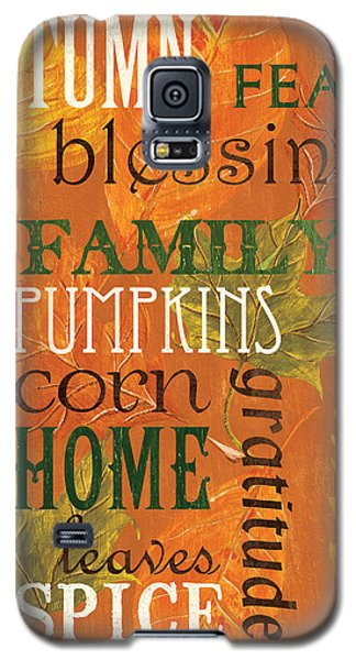 Fall Typography 1 Galaxy S5 Case by Debbie DeWitt