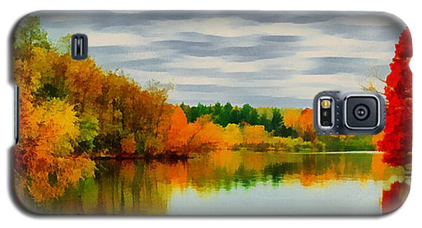 Fall Water Painterly Rendering Galaxy S5 Case