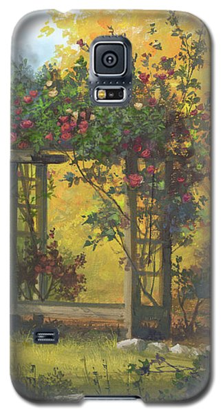 Galaxy S5 Case featuring the painting Fall Yellow by Michael Humphries