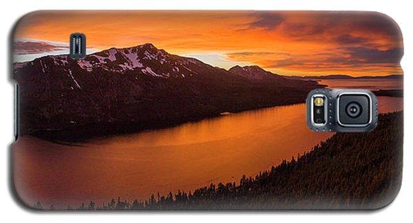 Fallen Leaf Lake Sunset Aerial By Brad Scott Galaxy S5 Case