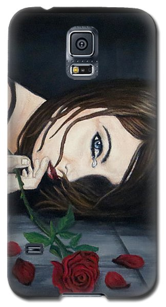 Galaxy S5 Case featuring the painting Fallen by Teresa Wing