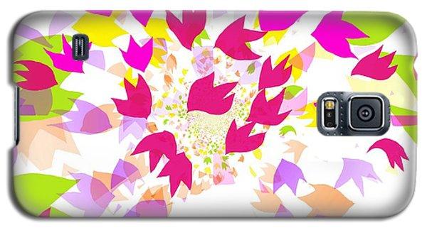Galaxy S5 Case featuring the digital art Falling Leaves by Barbara Moignard