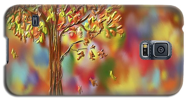 Galaxy S5 Case featuring the painting Falling Leaves by Kevin Caudill