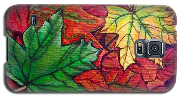 Falling Leaves I Painting Galaxy S5 Case by Kimberlee Baxter