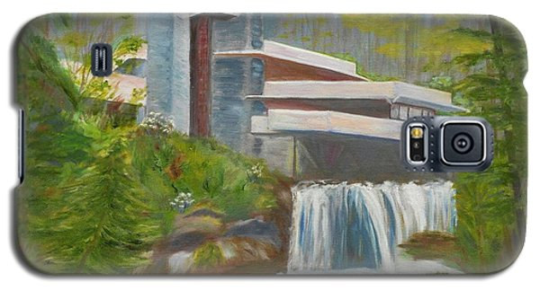 Galaxy S5 Case featuring the painting Falling Water by Jamie Frier