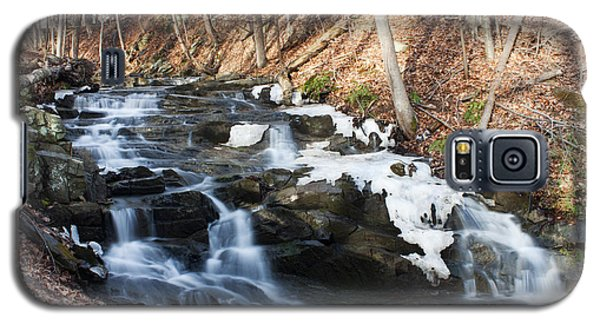 Galaxy S5 Case featuring the photograph Falling Waters In February #1 by Jeff Severson