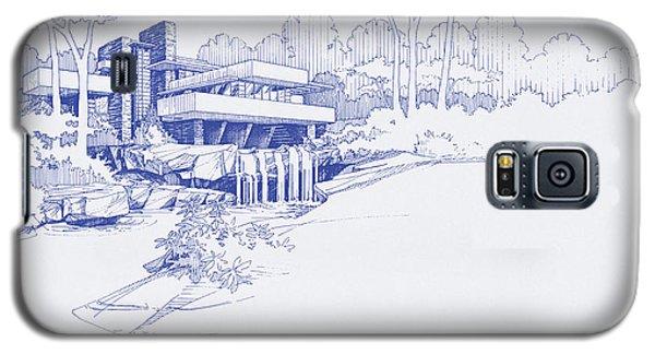Fallingwater Blueprint Galaxy S5 Case
