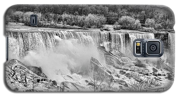 Galaxy S5 Case featuring the photograph Falls Black And White by Traci Cottingham