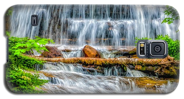 Galaxy S5 Case featuring the photograph Falls On Sable Creek by Nick Zelinsky