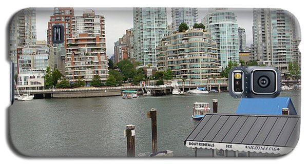 Galaxy S5 Case featuring the painting False Creek Vancouver by Rod Jellison