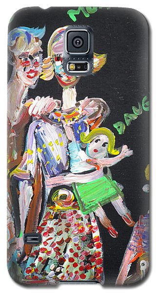 Galaxy S5 Case featuring the painting Family Day by Fabrizio Cassetta