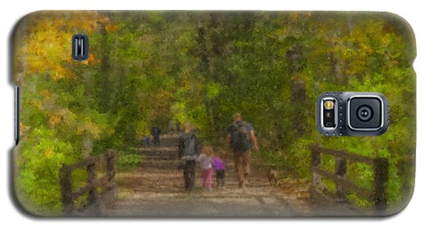 Family Walk At Borderland Galaxy S5 Case