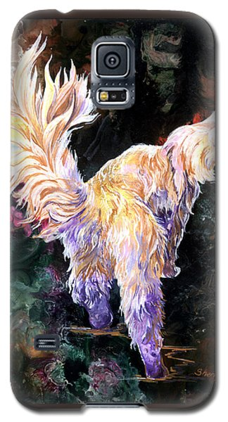 Galaxy S5 Case featuring the painting Fancy Britches by Sherry Shipley