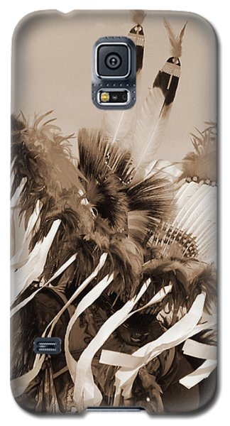 Galaxy S5 Case featuring the photograph Fancy Dancer In Sepia by Heidi Hermes