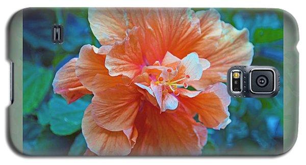 Fancy Peach Hibiscus Galaxy S5 Case by Sandi OReilly
