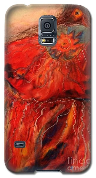 Galaxy S5 Case featuring the painting Fancy Shawl Dancer by FeatherStone Studio Julie A Miller