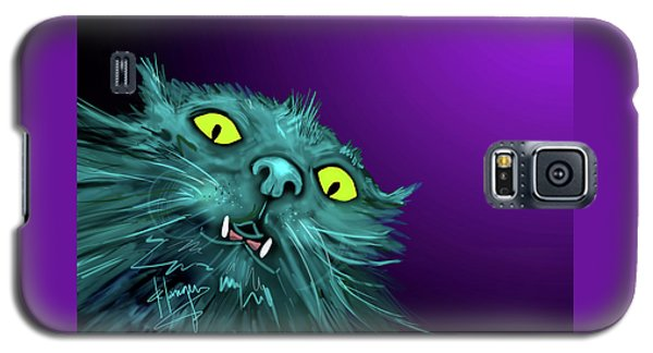 Galaxy S5 Case featuring the painting Fang Dizzycat by DC Langer