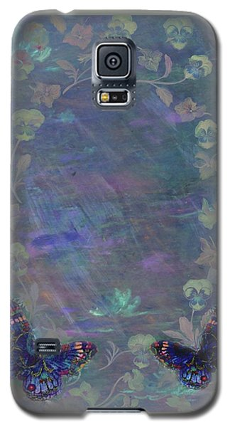 Fantasy Butterfly Painted Pansy Galaxy S5 Case by Judith Cheng