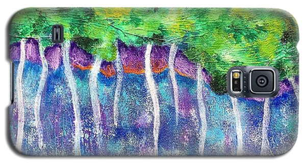 Galaxy S5 Case featuring the painting Fantasy Forest by Elizabeth Fontaine-Barr