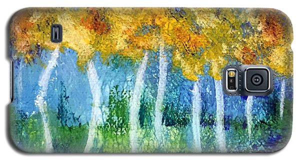 Galaxy S5 Case featuring the painting Fantasy Glade by Elizabeth Fontaine-Barr