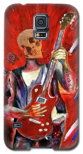 Fantasy Heavy Metal Skull Guitarist Galaxy S5 Case by Tom Conway