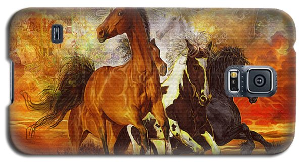 Galaxy S5 Case featuring the painting Fantasy Horse Visions by Steve Roberts