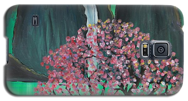 Galaxy S5 Case featuring the painting Fantasy Japan by Jacqueline Athmann