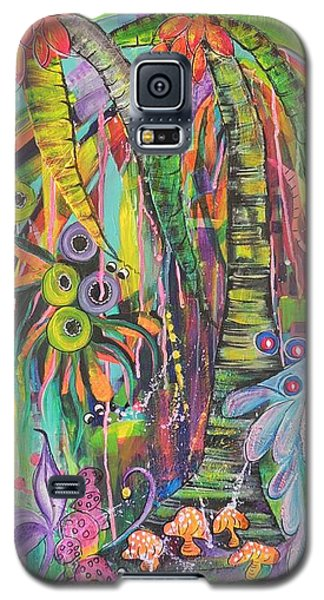 Galaxy S5 Case featuring the painting Fantasy Rainforest by Lyn Olsen
