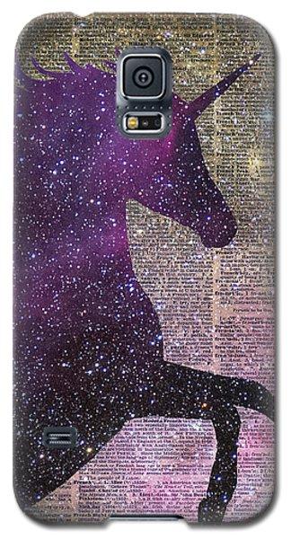 Fantasy Unicorn In The Space Galaxy S5 Case