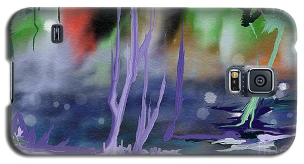 Galaxy S5 Case featuring the painting Fantasy With A Touch Of Reality by Rushan Ruzaick
