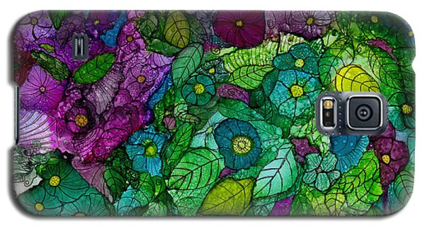 Fantasy Zen Flowers In Alcohol Ink Galaxy S5 Case
