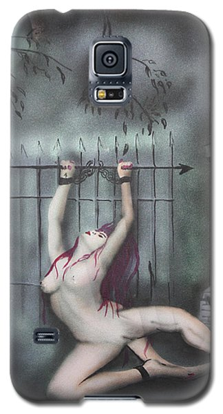 Galaxy S5 Case featuring the painting Fantasy4 by Tbone Oliver
