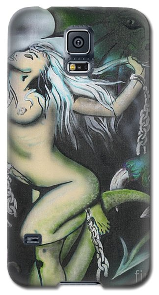 Galaxy S5 Case featuring the painting Fantsy 1 by Tbone Oliver