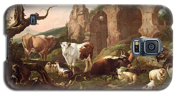 Farm Animals In A Landscape Galaxy S5 Case by Johann Heinrich Roos
