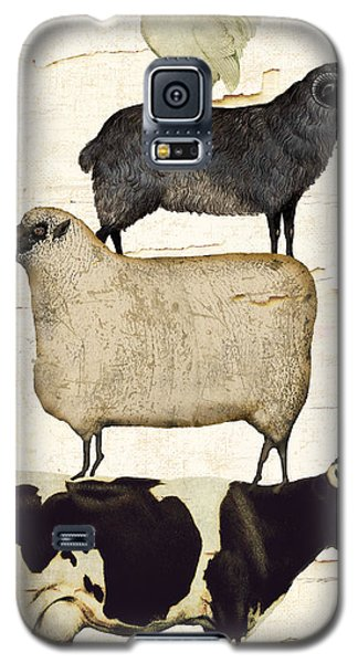Cow Galaxy S5 Case - Farm Animals Pileup by Mindy Sommers