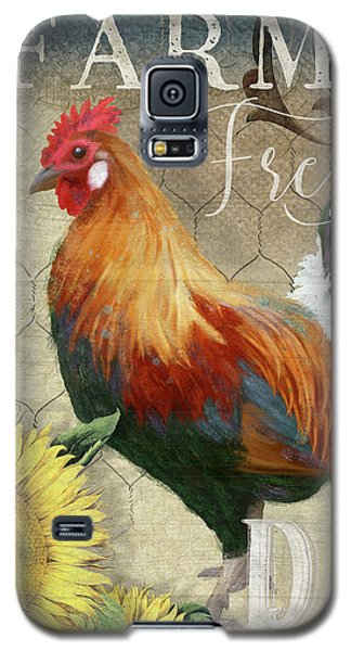 Farm Fresh Red Rooster Sunflower Rustic Country Galaxy S5 Case