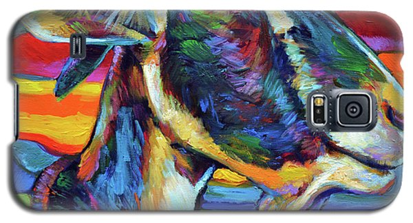 Galaxy S5 Case featuring the painting Farm Goat by Robert Phelps