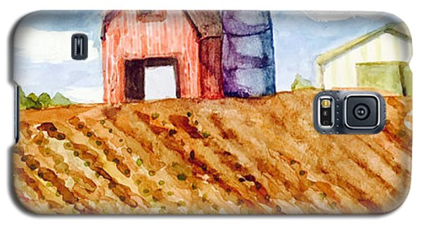 Galaxy S5 Case featuring the painting Farm In Spring by Jame Hayes