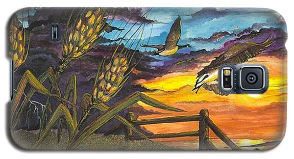 Farm Sunset Galaxy S5 Case