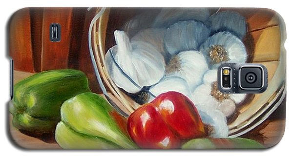 Galaxy S5 Case featuring the painting Farmers Market by Susan Dehlinger