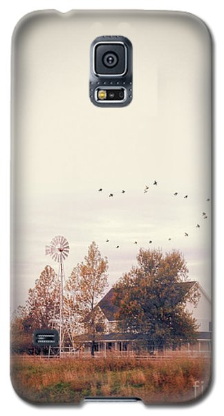 Galaxy S5 Case featuring the photograph Farmhouse And Windmill by Jill Battaglia