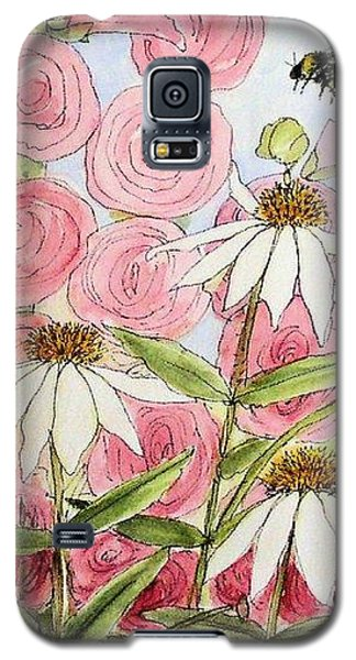 Galaxy S5 Case featuring the painting Farmhouse Garden by Laurie Rohner