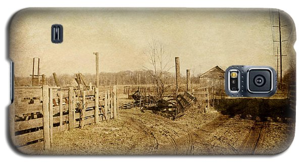 Farmstead In Sepia Galaxy S5 Case