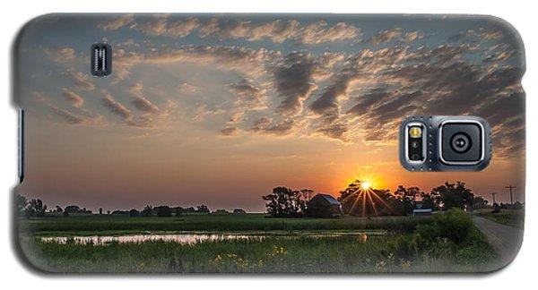 Farmstead Sunrise Galaxy S5 Case by Dan Traun